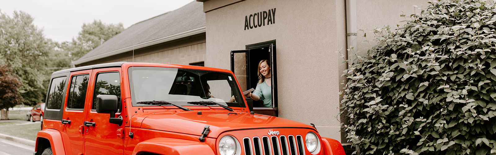 Accupay Drive Thru Window