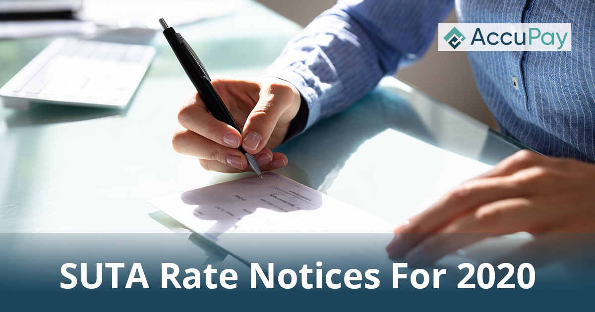 SUTA Rate Notices For 2020