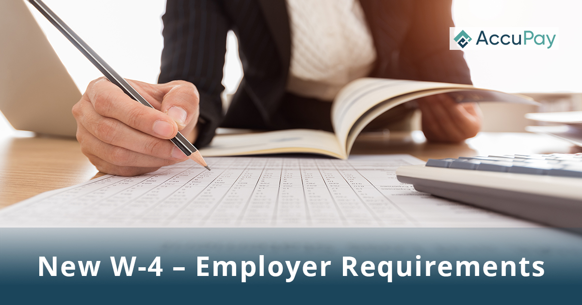 New W-4 Employer Requirements